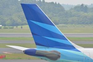 尾翼ロゴガルーダインドネシア航空