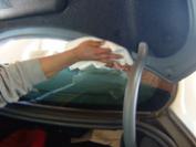 トランクのふち周もきれいに拭取